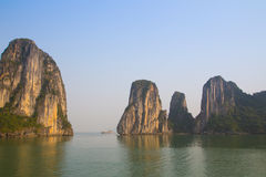 Ha Long Bay, Vietnam. Landscape of sea and mountains of Ha Long Bay, Vietnam Royalty Free Stock Photo