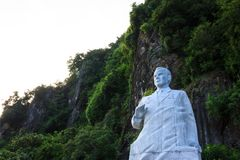 Ha Long Bay, Vietnam - October 22,2017: Statue of cosmonaut Gherman Titov on Ti Top Island in Ha Long Bay, a UNESCO World Heritage. Site and popular travel Royalty Free Stock Photo