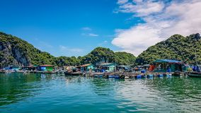 Ha Long Bay Vietnam South East Asia. Certainly one of the main attractions in the area with stunning nature and rock formations. UNESCO world heritage site stock image