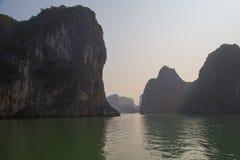 Ha Long Bay, Vietnam. Waters and mountains at Ha Long Bay, Vietnam Royalty Free Stock Image