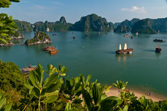 Ha Long Bay view Royalty Free Stock Photo
