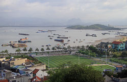Ha long city, the north of Vietnam Royalty Free Stock Photos