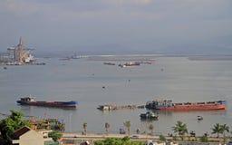 Ha long city, the north of Vietnam Royalty Free Stock Photography