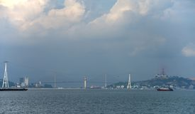 Ha Long city - panoramatic view Royalty Free Stock Photos