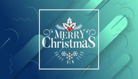 Ha mycket glad jul och det lyckliga nya året som vi önskar dig bokstäverlogo på lutningbakgrund, designmall med royaltyfri illustrationer