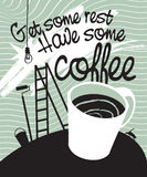 Ha något kaffe vektor illustrationer