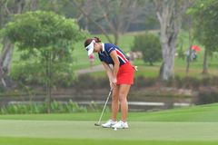 Ha-Neul Kim in Honda LPGA Thailand 2018. Ha-Neul Kim of Republic of Korea in Honda LPGA Thailand 2018 at Siam Country Club, Old Course on February 24, 2018 in Royalty Free Stock Photography