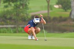 Ha-Neul Kim in Honda LPGA Thailand 2018. Ha-Neul Kim of Republic of Korea in Honda LPGA Thailand 2018 at Siam Country Club, Old Course on February 24, 2018 in Stock Images