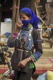 Ha Nhi ethnic femalein Muong Hum market Royalty Free Stock Images