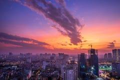 Ha Noi Cityscape - Archivbild Stockfotografie