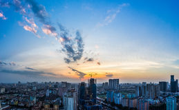 Ha Noi Cityscape in sunset Royalty Free Stock Photography