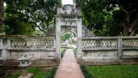 HA NOI, VIET NAM, November 30, 2015:  Visiting historic Confucius Temple,The Temple of literature, the center of Hanoi, Vietnam Royalty Free Stock Images