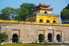 HA NOI, VIETNAM.Thang Long Citadel as a world heritage city famous in Hanoi Royalty Free Stock Image