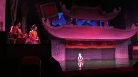 Ha Noi Water Puppet Theater stock video footage