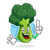 Ha ottenuto i broccoli la mascotte, il carattere dei broccoli, broccoli di un'idea Immagine Stock Libera da Diritti