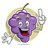 Ha ottenuto una mascotte dell'uva di idea Vettore del carattere dell'uva Logo dell'uva Immagine Stock