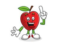 Ha ottenuto una mascotte della mela di idea Vettore del carattere di Apple Logo di Apple Fotografia Stock