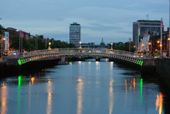 Ha'Penny Bridge Stock Photo
