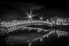 Ha`penny Bridge stock photo