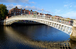 Ha'penny Bridge, Dublin. Famous dublin landmark ha penny bridge ireland (offically Wellington Bridge after the 'Iron Duke Royalty Free Stock Photography