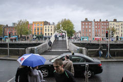 Ha'Penny Bridge, Dublin Lizenzfreies Stockbild