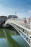 Ha penny Bridge, Dublin. Famous dublin landmark ha penny bridge ireland (offically Wellington Bridge). Shot in a wonderful sunny day Royalty Free Stock Images