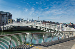 Ha penny Bridge, Dublin. Famous dublin landmark ha penny bridge ireland (offically Wellington Bridge). Shot in a wonderful sunny day Stock Photo