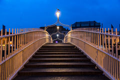 Ha'penny Bridge in Dublin, Ireland. Royalty Free Stock Photo