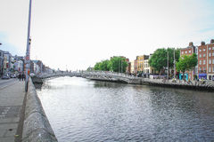 Ha'penny Bridge, Dublin Stock Images