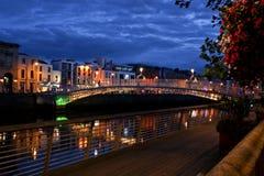 Ha`Penny Bridge, Dublin, Ireland Royalty Free Stock Photography