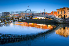 Ha'penny Bridge in Dublin, Reland Royalty Free Stock Photos