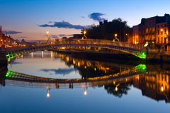 Ha'penny Bridge in Dublin, Reland Stock Photo