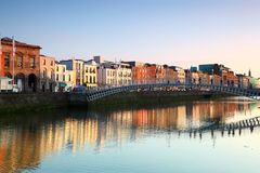 Ha'penny Bridge is pedestrian bridge Stock Photo