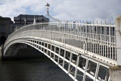 Ha'penny Bridge, River Liffey, Dublin Stock Photos