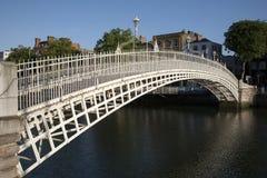 Ha'Penny Bridge and the River Liffey, Dublin Stock Photo