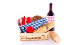 ha picknick den klara sommaren Arkivbilder