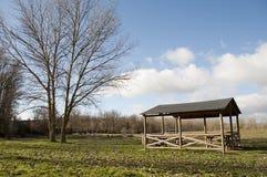Ha picknick område Fotografering för Bildbyråer