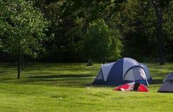 ha picknick tenten Arkivbild