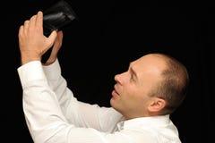 Ha rotto l'uomo d'affari Fotografie Stock