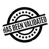 Ha sido el sello de goma validado Imagenes de archivo