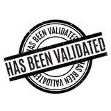 Ha sido el sello de goma validado Imágenes de archivo libres de regalías