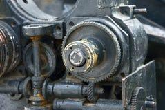 ha smontato il vecchio meccanismo del ferro Fotografia Stock