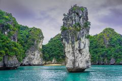Ha snakken Baai, glimp 1 van Vietnam stock foto