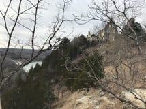 Ha ha Tonka Castel Through los árboles Imagenes de archivo