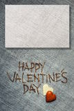 Happy Valentines Day. Greeting card with natural background Stock Image