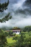 Haa Dzong, крепость района Haa, Бутана стоковая фотография