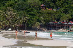 Haad Rin beach in the island Koh Phangan. Thailand Royalty Free Stock Image