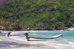 Haad Rin beach in the island Koh Phangan. Thailand Stock Photography