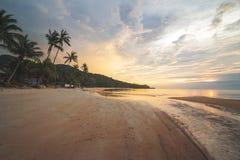 Haad Yoa海滩,酸值Phangan,泰国 免版税库存图片