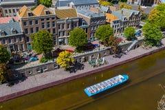 Haag Nederländerna - April 26, 2017: Utrecht i Madurodam mi Royaltyfria Foton